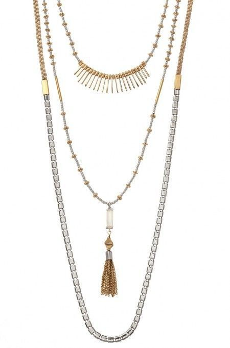 Riad Layering Necklace - a thing of great beauty (and versatility!!!). Where each piece separately or all together, a great `throw it on' piece. A current bestseller of S&D - £75