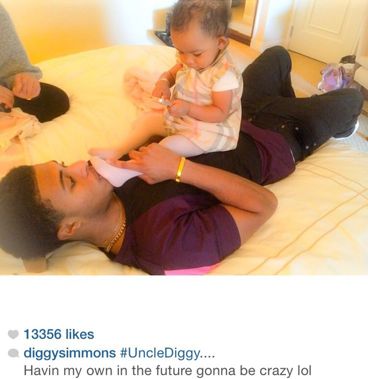 Diggy Simmons and his niece