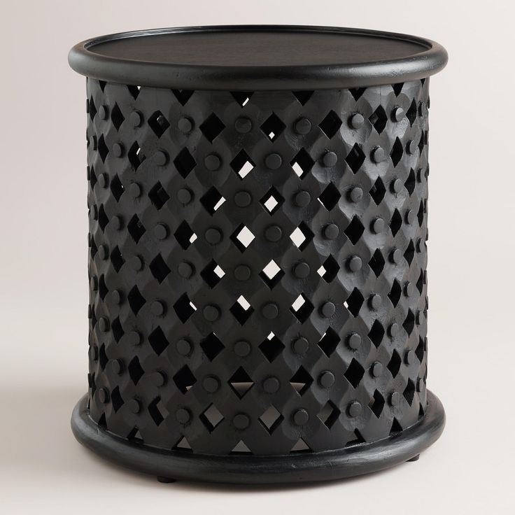 Black Tribal Carved Accent Table | World Market