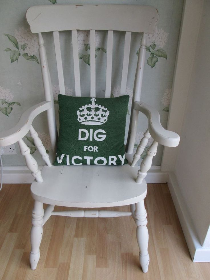 Shabby chic distressed Annie Sloan country grey painted pine high backed chair