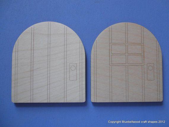 10cm houten vlakte Fairy deur Hobbit deur door BluebellwoodCrafts