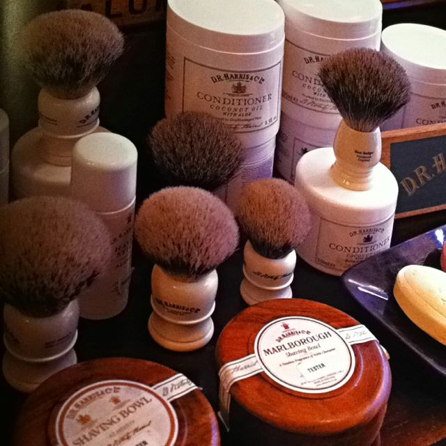 Shaving items from D.R. Harris & Co., London