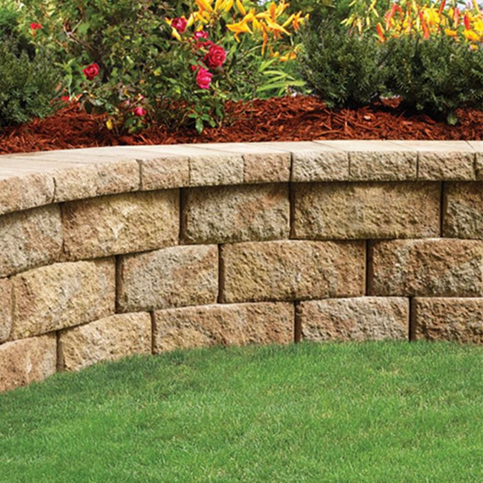 Raised Bed Retaining Wall: Raised Planting Bed Made With Retaining Wall Blocks And