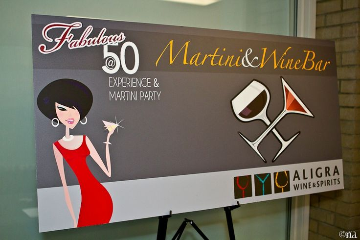 Official Martini bar for Fabulous at 50's in November!