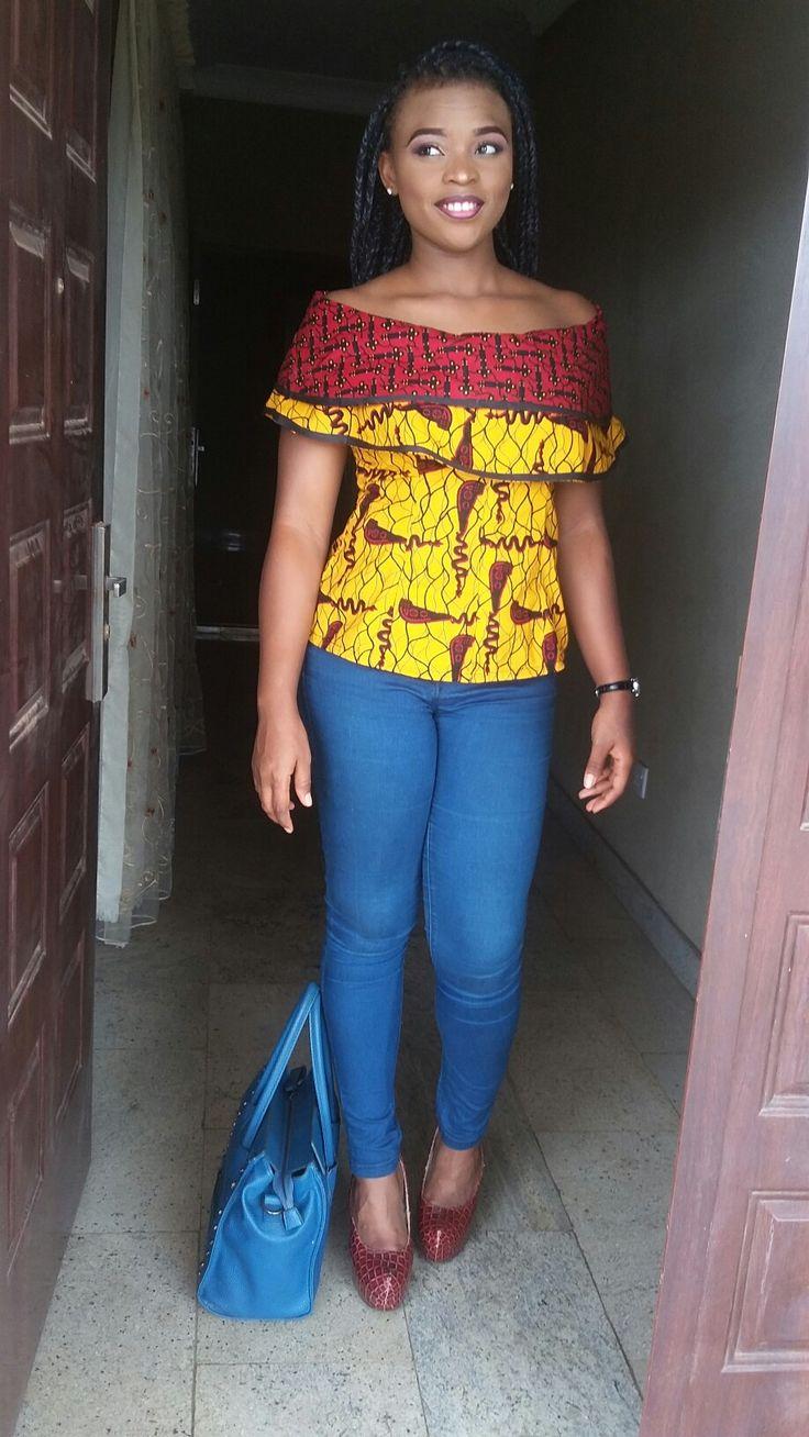 Ankara cape blouse