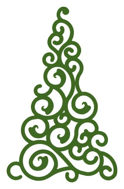 Swirl Christmas Tree SVG Files Pinterest Natal, Festa de natal