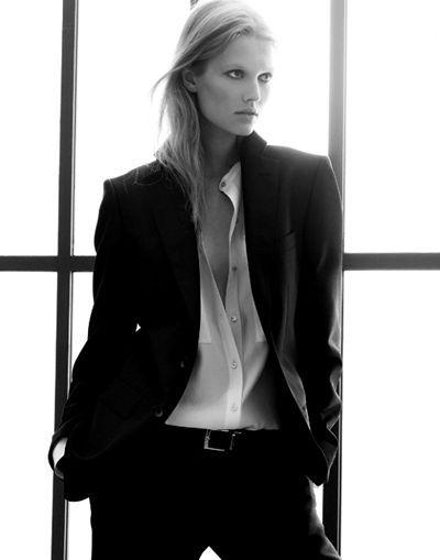 Women look good in men's suits, too.                                                                                                                                                                                 More