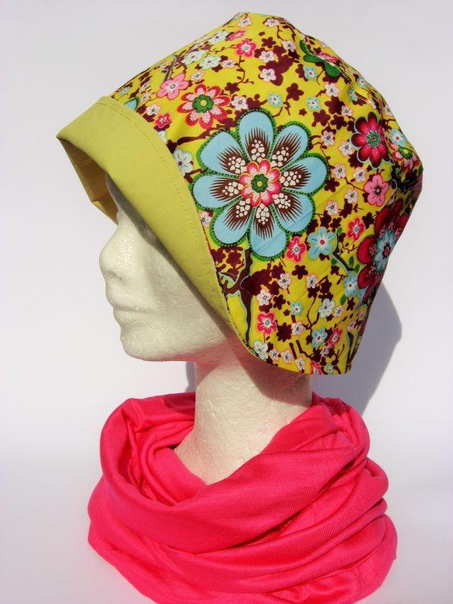 Cappello cloche pioggia impermeabile giallo design floreale : Cappelli, berretti…