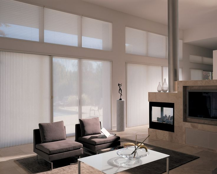 Great blog that covers many different creative options that Hunter Douglas  offers in window treatments  Living Room BlindsLiving  7 best Window covering and blinds solutions for Condos images on  . Modern Blinds For Living Room. Home Design Ideas