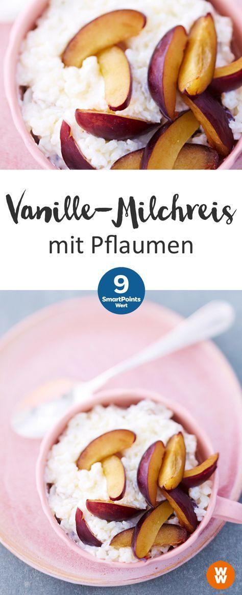 Vanille-Milchreis mit Pflaumen | 9 SmartPoints/Portion, Weight Watchers, fertig in 50 min.