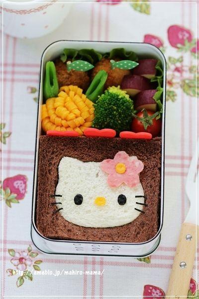 Hello kitty sandwich bento