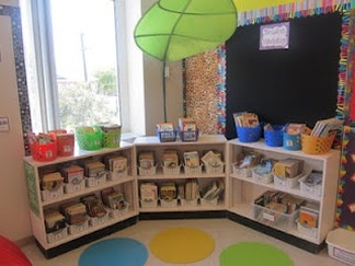 Klaslokalen bekijken van diverse groepen in het buitenland. Als je een foto aanklikt zie je nog meer foto's van dat lokaal met uitleg. Amazing website with tons of ideas of how to organize the classroom!