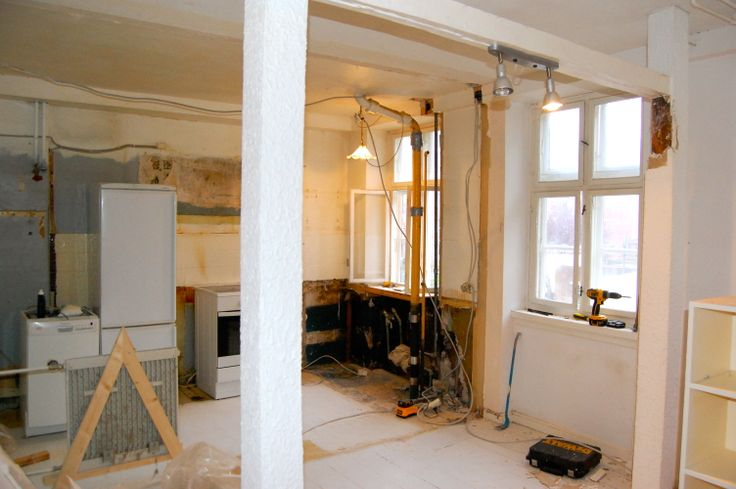 Week 1 - The old bedroom and kitchen is now merged and the kitchen is demolished
