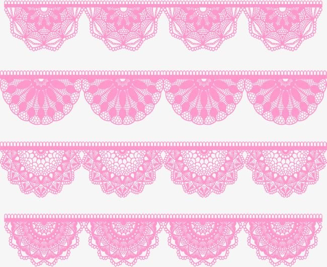 Pink Fan Shaped Lace Edge Vector Png Lace Edge Pink Lace Png And Vector With Transparent Background For Free Download Lace Edging Ribbon Png Pink Lace