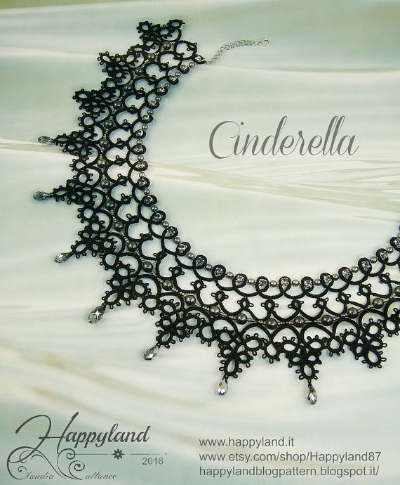 Cinderella necklace needle tatting kit and pattern by Happyland87