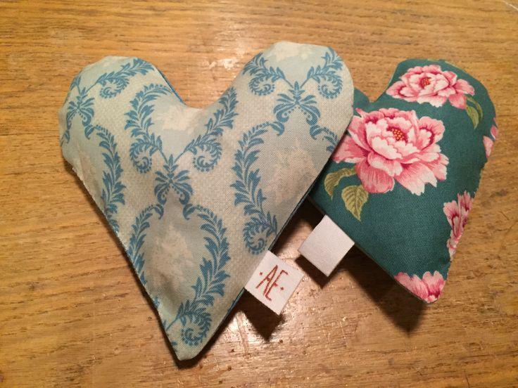 Lavendelhjärtan bomull
