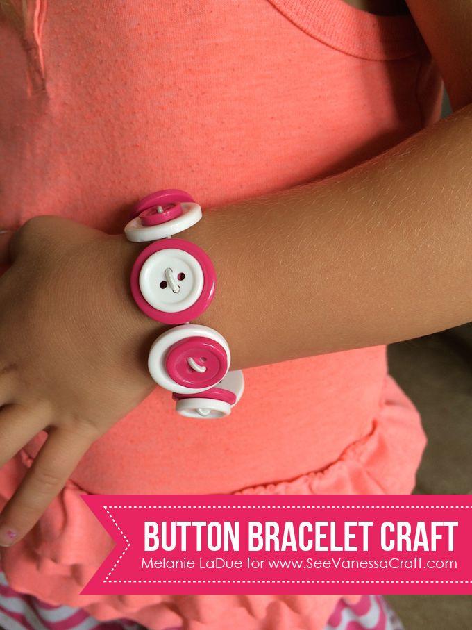 Button Bracelet Craft for Kids - www.seevanessacraft.com