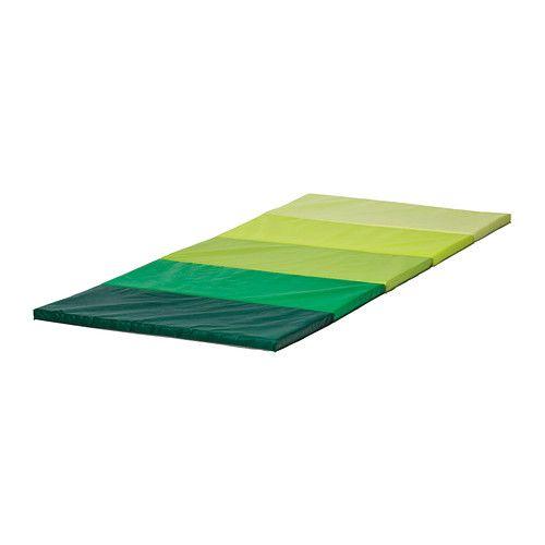 PLUFSIG Gymnastikmatta, hopvikbar, grön 78x185 cm grön