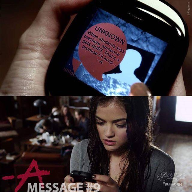 Mensagem # 9 de A. Enviado para Aria. 2 de 150 // Temporada 1, Episódio 2. #PLL