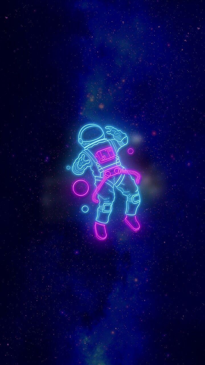 Neon Astronaut Astronaut Wallpaper Wallpaper Iphone Neon Neon Wallpaper