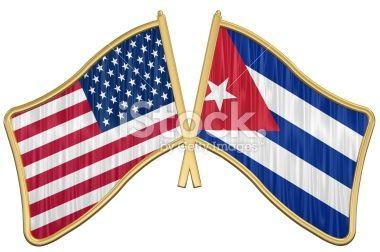 Cuban And American Flag | US Friendship Flag Pin - Cuba Stock Photo 7346766 - iStock