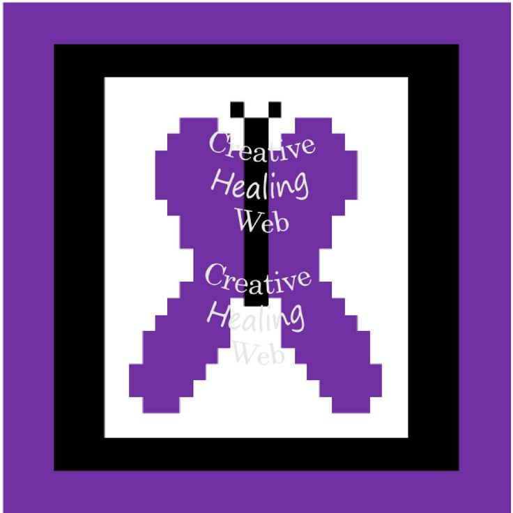 Purple Butterfly graph pattern to make knitted squares for a blanket. Knitting pattern by CreativeHealingWeb on Etsy