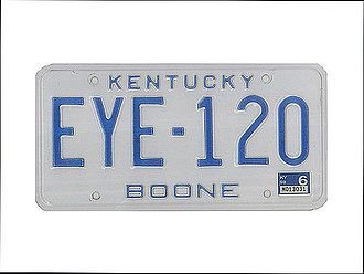 USA - Nummernschild Kentucky - BOONE - original - Hausnummern und Schilder online kaufen