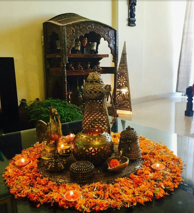 Pin By Abhijay Janu On Homes: Diya Peacock Kumkum Bell In Br