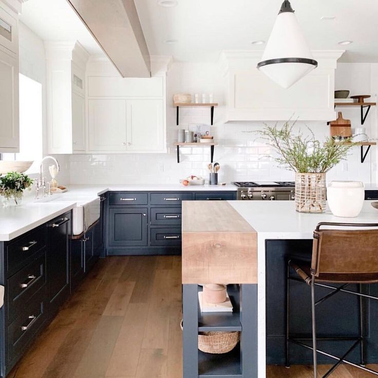 what s cookin white cabinets tuxedo blue lowers quartz countertops wood accents fab on kitchen remodel not white id=80820