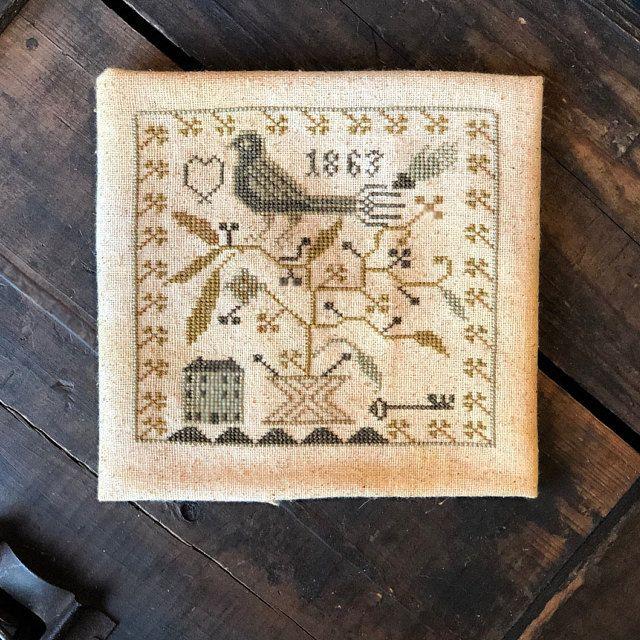 Cross stitch pattern Gentle morning pdf file Instant Download Cross Stitch Chart Embroidery Chart DMC