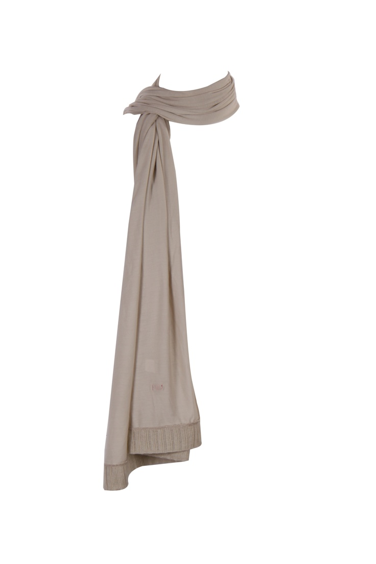 Off White Jersey Dupatta With Rib Details At Both Ends; 2.25 M In Length #Fashion #Style #Colors #Drapes #W for #Woman
