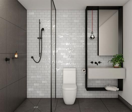 Black shower screen channel from collins queen for Simple bathroom layout