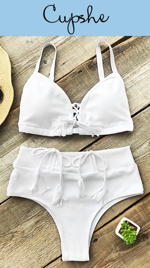 92e071ef7a Time to plan your next beach trip~ Cupshe Bath In Sunshine High-waisted  Bikini Set to you
