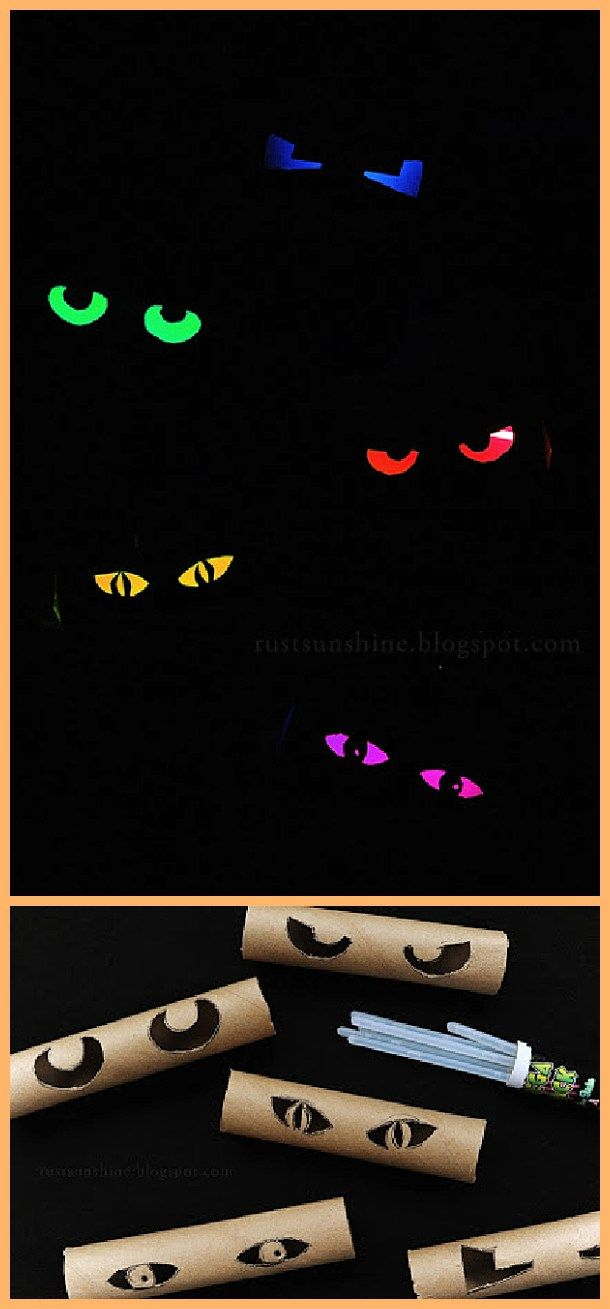 diy glowing eyes easy and cheap halloween window display decorations tutorial rust and sunshine - Cheap Do It Yourself Halloween Decorations