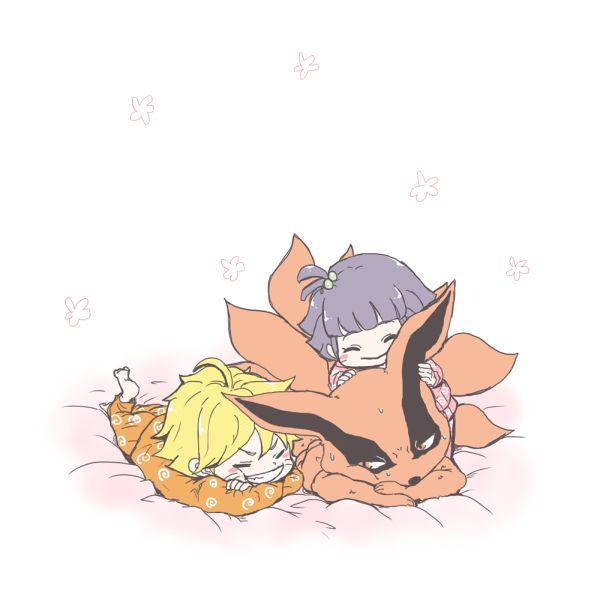 Baby Bolt and Baby Himawari with Kurama