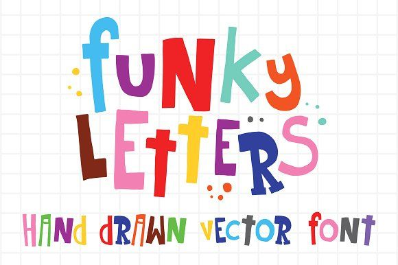 Funky letters and numbers vector set by Dmitry Loshkin on @creativemarket