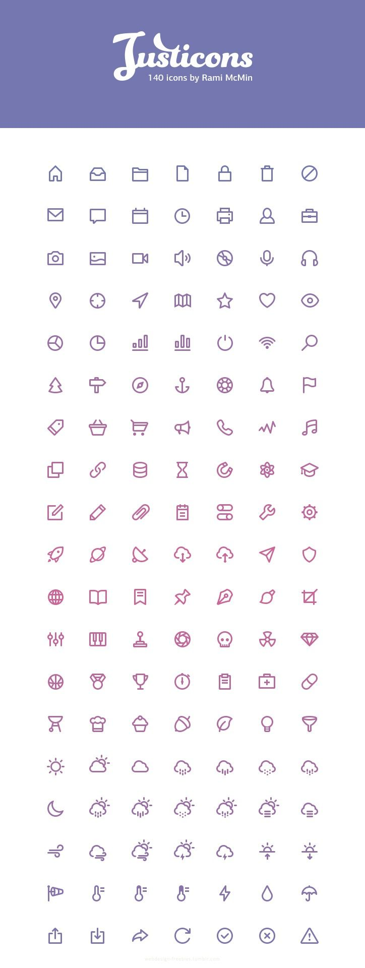Justicons - 140 Free Stroke Icons