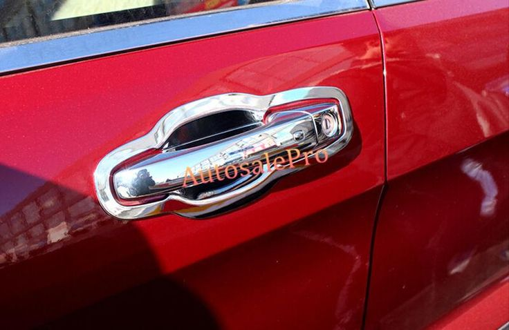 [Visit to Buy] Chrome Smart Key Door Handle + Handle Bowl Cover Trim for Jeep Grand Cherokee 2011 2012 2013 2014 2015 #Advertisement