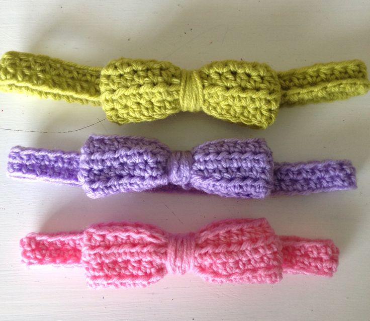 Sweet bow crochet Headbands for your little fashionista. Shipping world wide. Find out where on Instagram: @amanomadewithlove