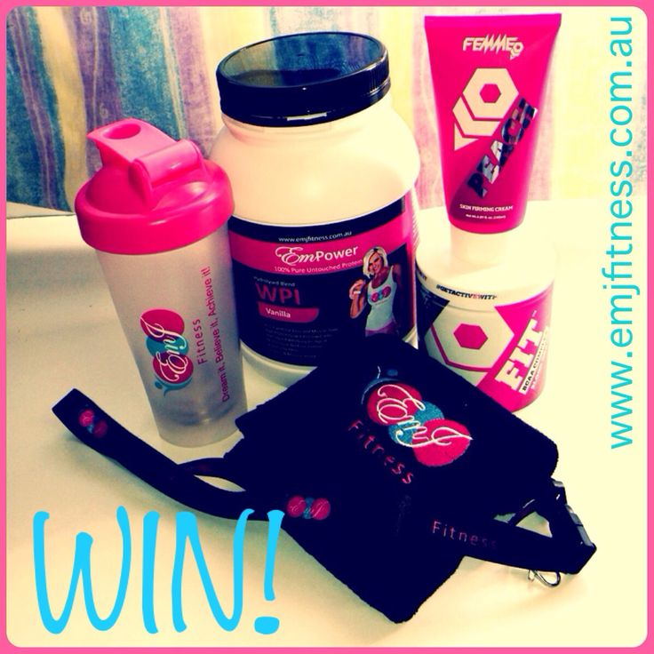 Facebook competition! Jump over to www.facebook.com/emjfitness and follow the instructions to WIN this prize