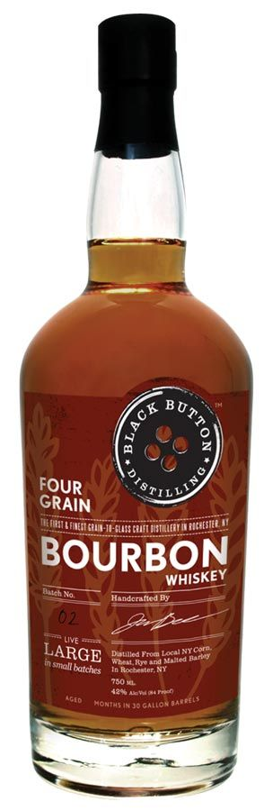 Black Button Distilling in Rochester, New York has released their own Four Grain Bourbon Whiskey this summer and it was a big moment since Jason Barrett (the owner and head distiller) is a fan of bourbon and he has worked towards bringing this first batch to market ever since opening his distillery.