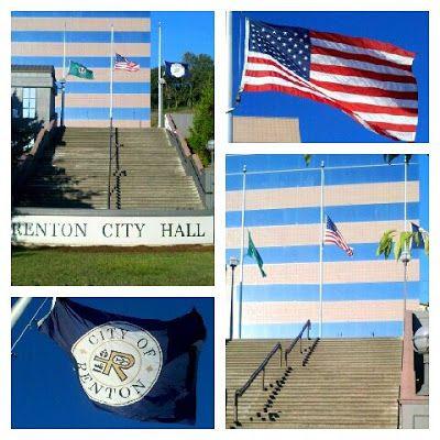 Renton, WA | Flags at Half Mast for Granite Mountain Hotshots of Prescott, AZ
