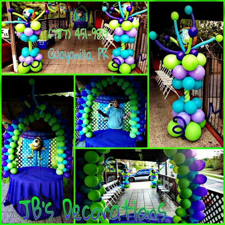Una decoracion de Monster Inc <3