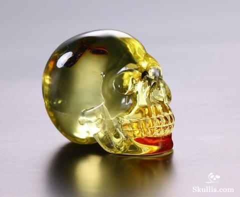 ✿ Baltic Amber Crystal Skull ~ Amber can add stability to your life. Helpful in clearing up depression and suicidal thoughts therefore, bringing about a positive mental state. Also useful as a memory aid, which makes it a good stone for studying ✿