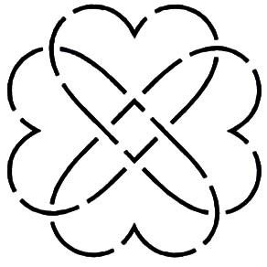 Quilt Stencil Heart Knot By Walner, Hari  - Heart Knot 4in continuous line stencil. Stencil is made of Mylar plastic with the displayed design cut into it.