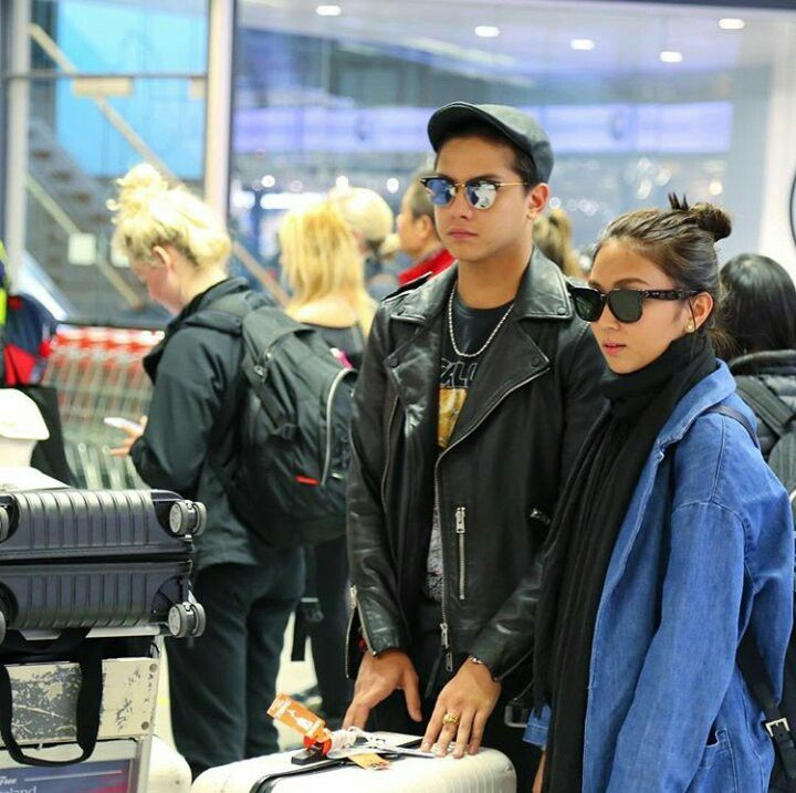 This is the handsome Daniel Padilla and the pretty Kathryn Bernardo smiling and staring at each other while they're waiting for their flight to Reykjavik, Iceland to do their magazine photo shoot for Mega Magazine. Indeed, KathNiel is my favourite Kapamilya love team and they're amazing Star Magic talents. #KathrynBernardo #TeenQueen #DanielPadilla #KathNiel #KathNielBernaDilla #KathNielforMegaMagazine #KathNielinIceland