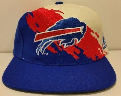 Buffalo Bills Vintage Snapback Logo Athletic Splash Hat NFL Rare Starter Cap