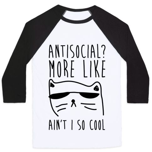 Show off your antisocial side with this cool sunglasses wearing cat, introvert pride, sassy shirt! Put those shades on, stay home, and be cool. Shop our entire collection of hilarious cat designs, great for all cat lovers, especially during the holidays. Receive FREE SHIPPING on U.S. orders over $50.00