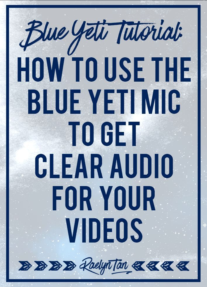 Everything you need to know to learn how to use the Blue Yeti Microphone. #blueyeti #microphone