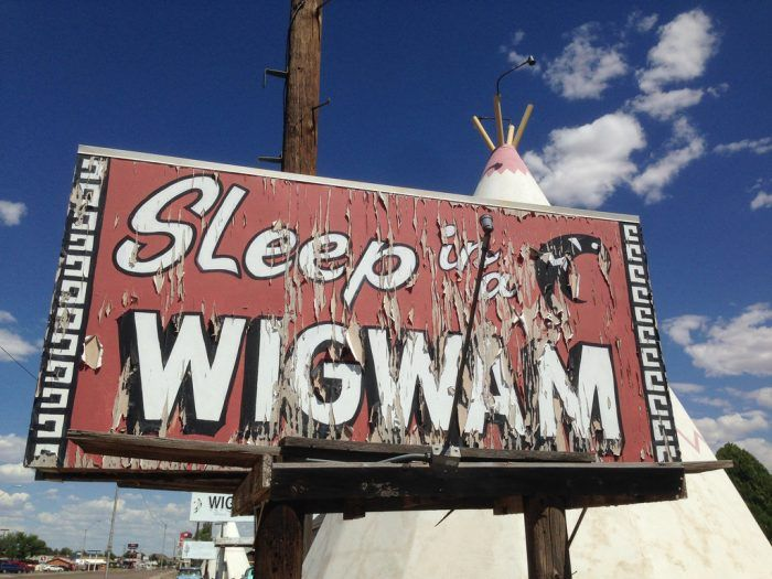 Despite the name of the motel, it's not actually a wigwam you'll be sleeping in.